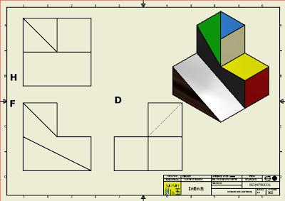 Construcción de Sólidos Isometricos 2  en Autodesk Inventor