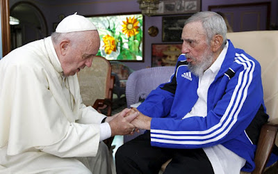 His Ugliness Pope Francis and El Comandante. What if there is a God?...