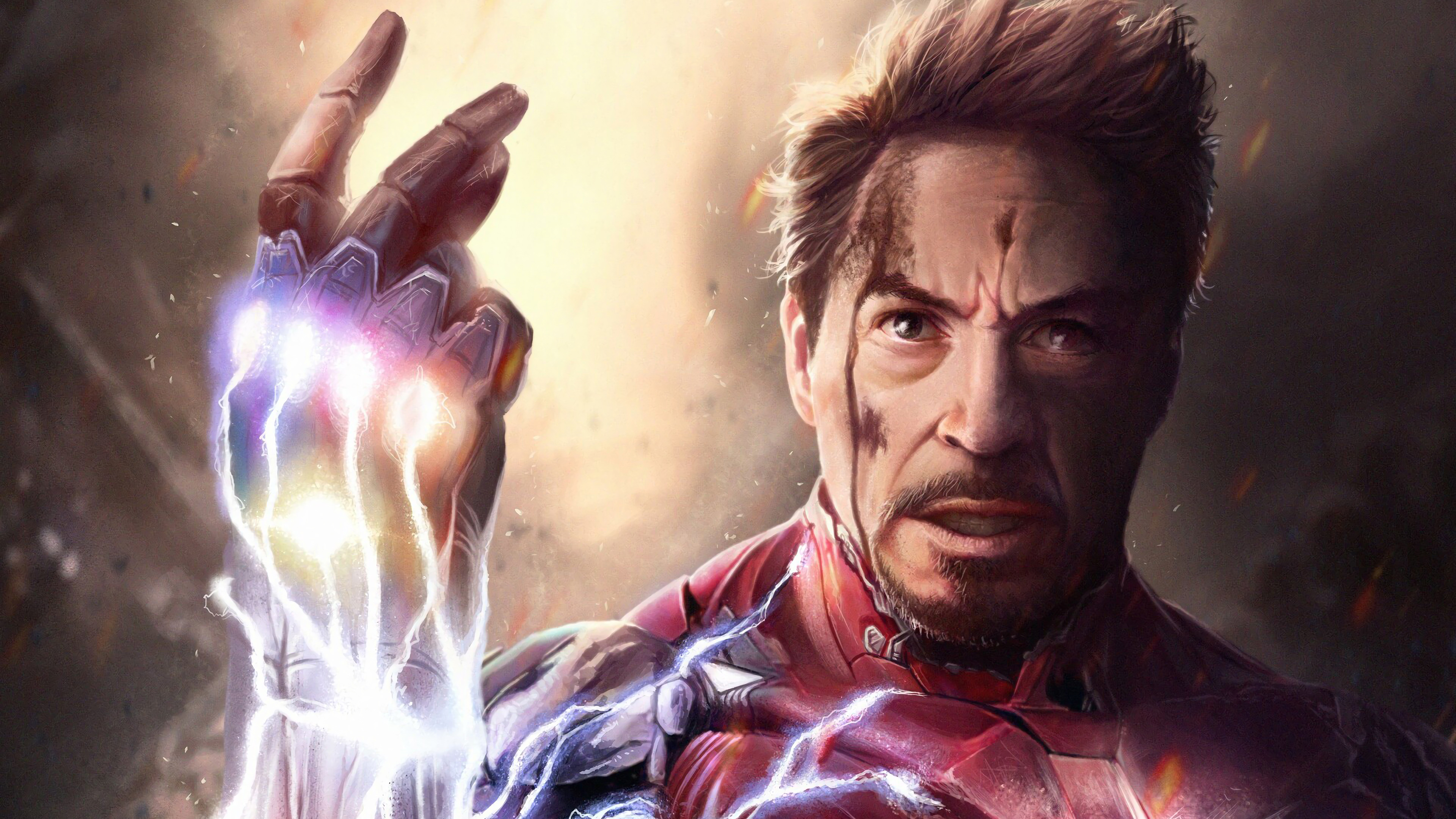 Iron Man Snap Infinity Stones Avengers Endgame 4k Wallpaper 175