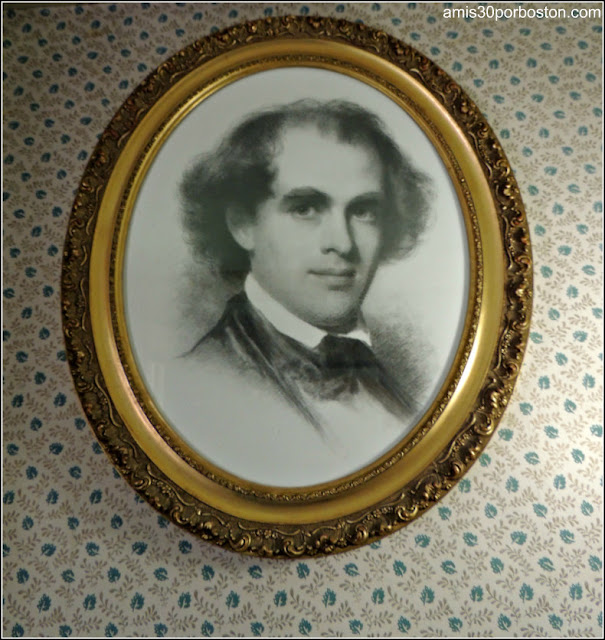 Retrato Nathaniel Hawthorne en The Old Manse, Concord