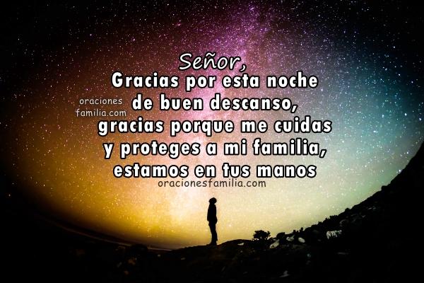 Oración corta a Dios para dormir en la noche con paz, serenidad, sin preocupación, confío en Dios frases para antes de acostarse, buenas noches con imágenes por Mery Bracho.