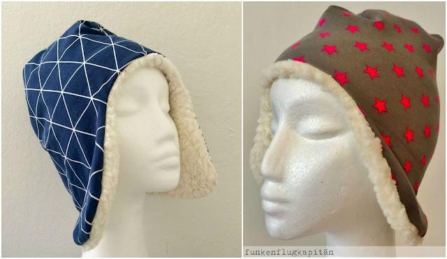 Mütze mit Ohrklappen und Fell nähen