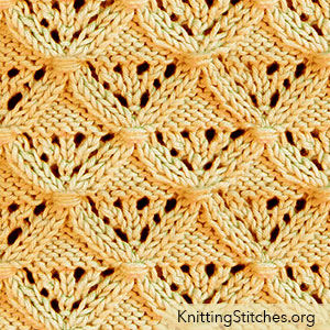 Diamond Lattice lace pattern is not simple to memorize and do. Intermediate knitting skills would be needed.
