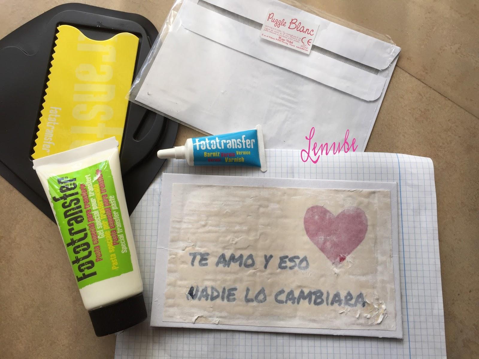 Craft Ideas, Puzzle con mensaje por San Valentin