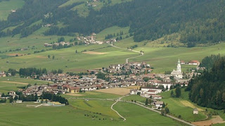 The village of Toblach is in a beautiful valley in the  German-speaking South Tyrol area of northern Italy