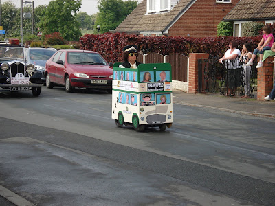 Fancy dress competitor in Gawthorpe village parade