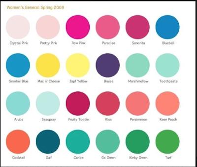 lululemon spring-2009-palette