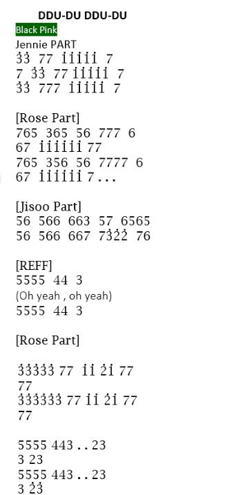 Pianika Lagu DDU-DU DDU-DU dari BLACKPINK