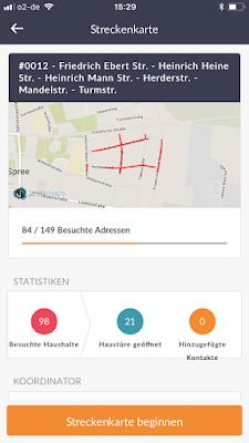Screenshot vom Handy