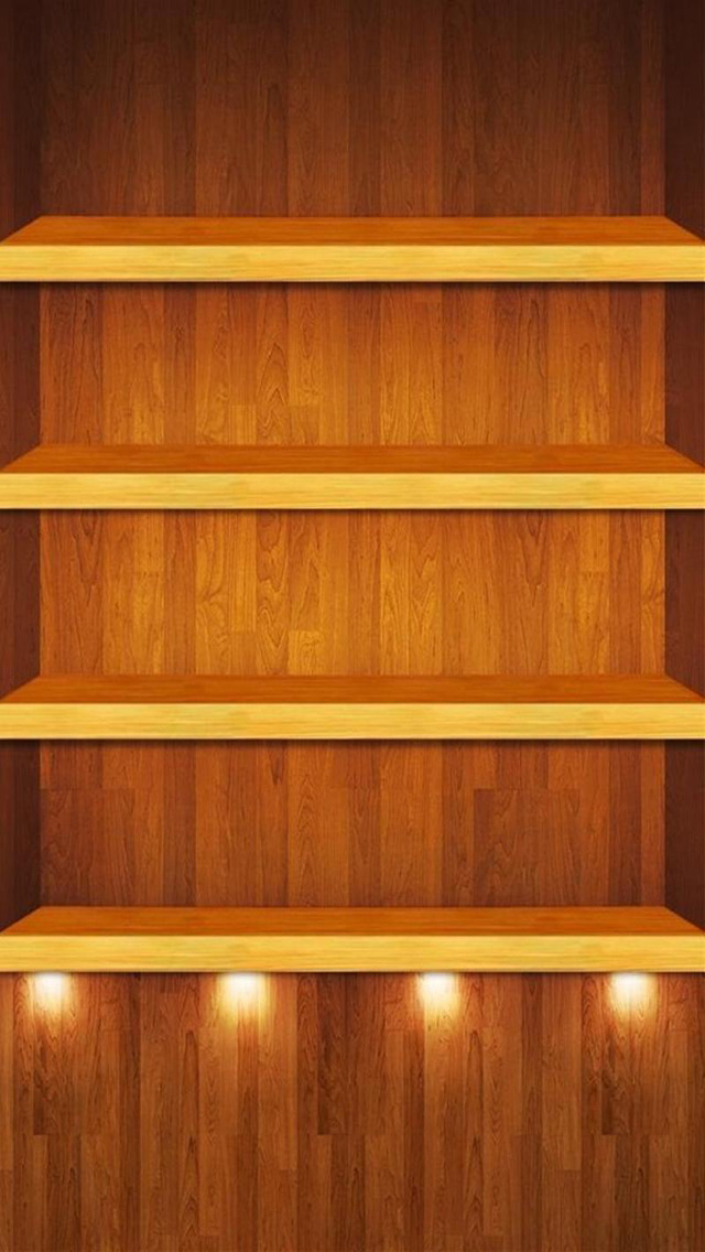 Free Download Wood Shelf HD iPhone 5 Wallpapers | Free HD Wallpapers for Your iPhone and iPod touch!