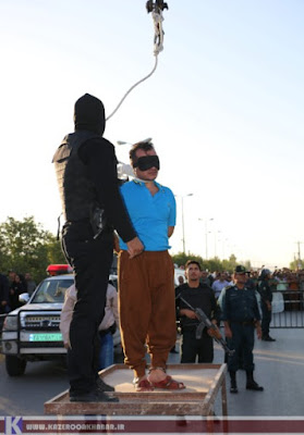 Public hanging in Kazeroon, Iran, on August 11, 2016