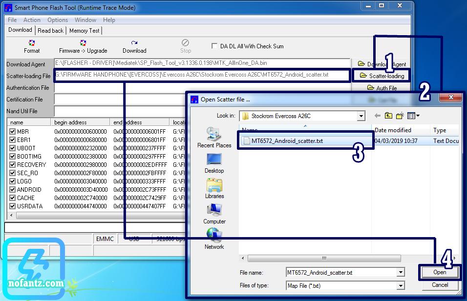 Mengatasi kerusakan Bootloop pada Evercoss A26C menggunakan PC