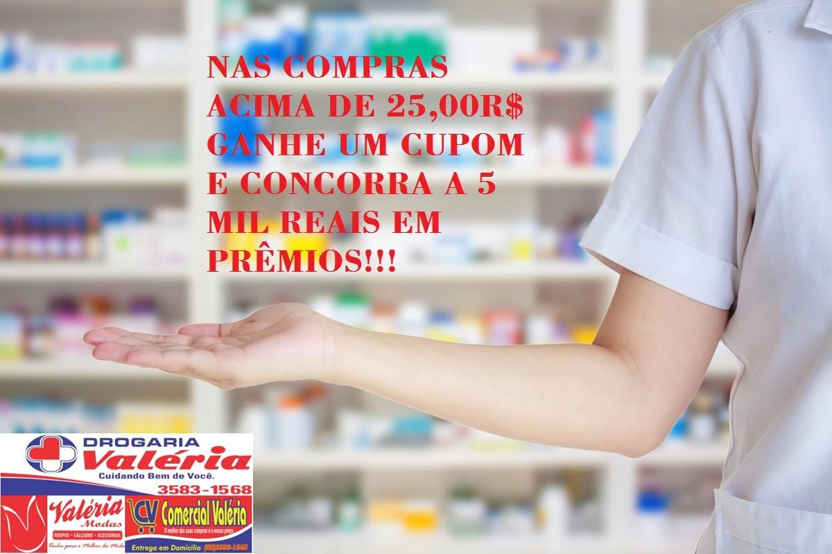 Compre e concorra a 5 mil reais em prêmios (Drogaria, Comercial e Valéria  Modas) 97fa14b35a