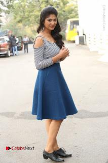 Telugu Actress Roshini Prakash Stills Short Dress at Saptagiri Express Release Press Meet  0243.JPG