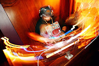 DJ spinning in a nightclub