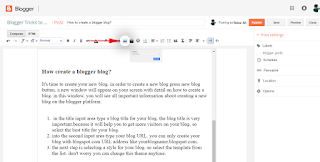 how to insert an image into the post blogger