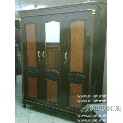 lemari pakaian triplek 3 pintu motif