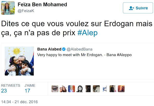 Feiza Ben Mohamed, une grande admiratrice d'Erdogan