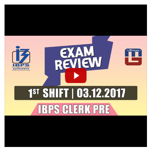 Exam Review with Cut Off | IBPS Clerk Pre 2017 | 3rd Dec - 1st Shift