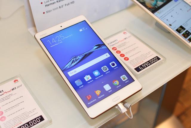Huawei chính thức giới thiệu hai chiếc máy tính bảng tại thị trường Việt Nam: MediaPad M3 2017 và T3-8