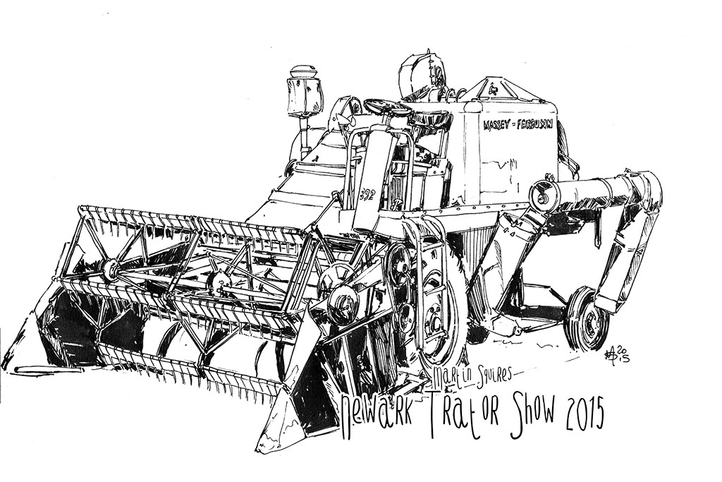 martin squires automotive illustration the newark vintage