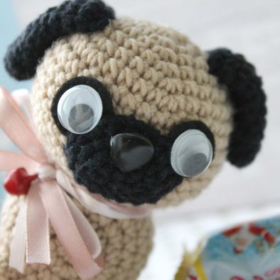 Baby Pug Dog amigurumi pattern - Amigurumi Today | 394x394