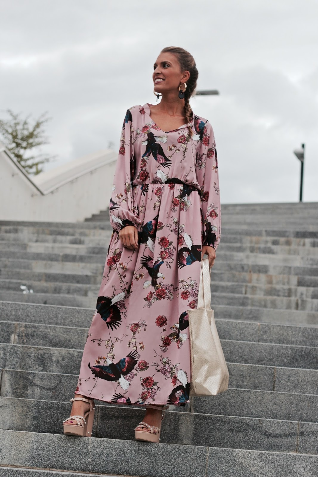 vestido largo oriental