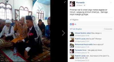 Mahar Nikah Segelas Air Putih, Pasangan di Aceh Singkil Bikin Haru