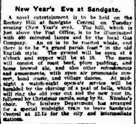 An Australian New Year's Eve.... 1912 Style
