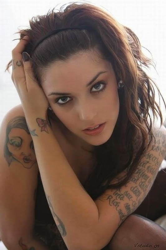 beautiful woman with tattoos