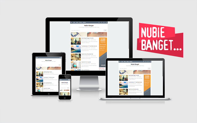 Nubie Banget Responsive Blogger Template By Arlina Design