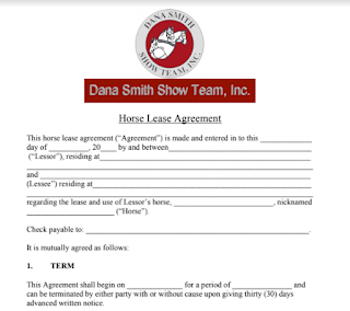 Horse Lease Agreement In Doc And Pdf Sample Contracts