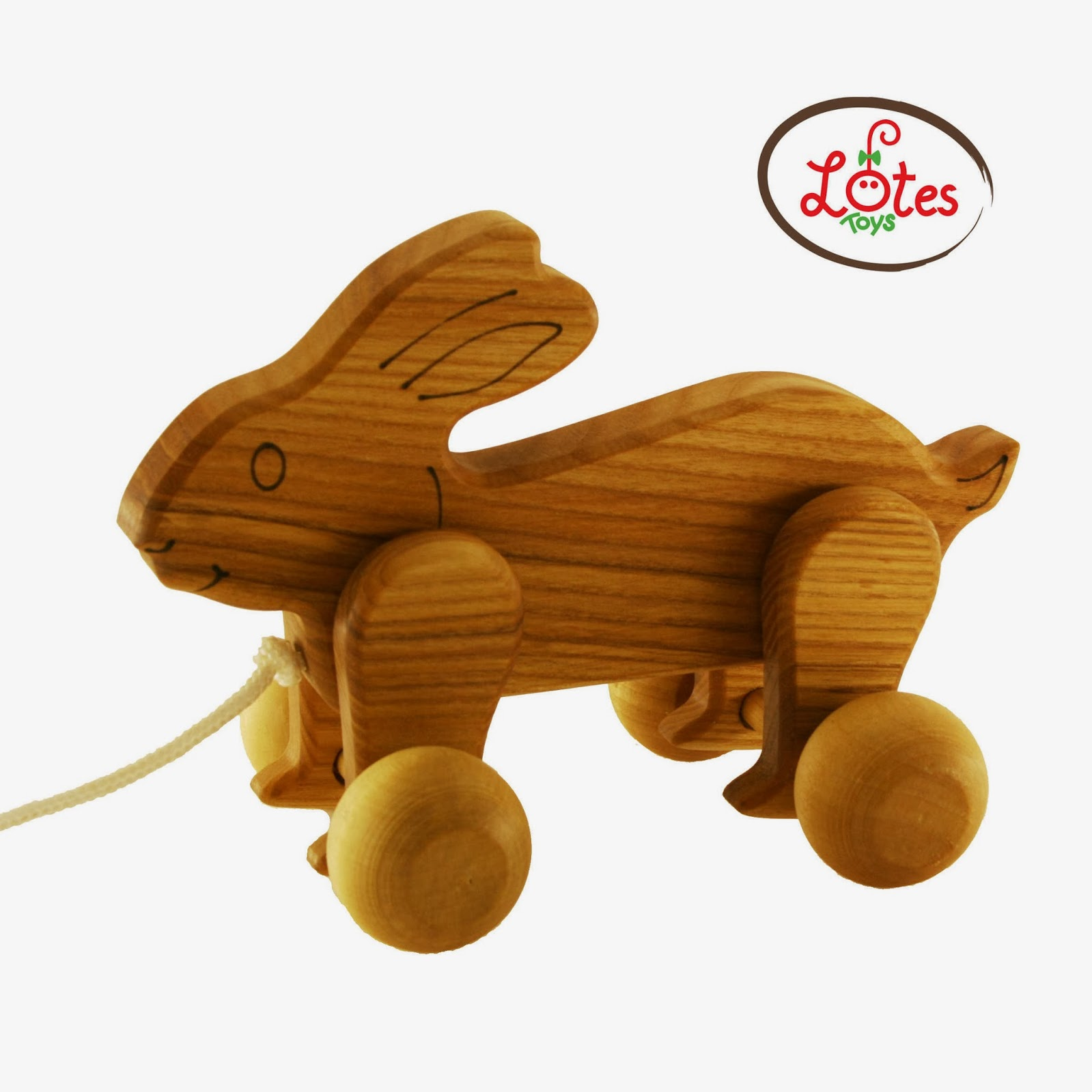 Lotes Wooden Toys New Pull Toys