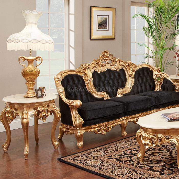 Sofa Romawi Jati Warna Emas - Furniture Jepara