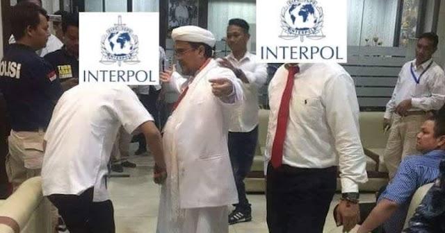 Polri Sudah terbitkan red notice, rizieq akan jadi buronan interpol