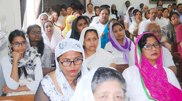 Special Prayer in Church on Good Friday in Christian Community in Faridabad