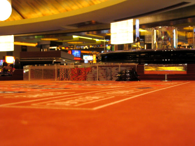 Craps Table Felt and Chips