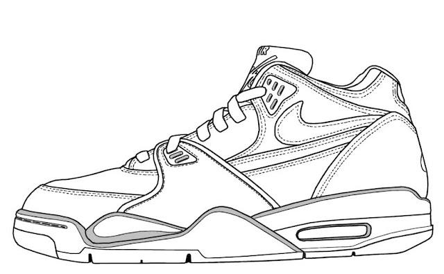 Los dibujos para colorear : Dibujos de zapatos para colorear