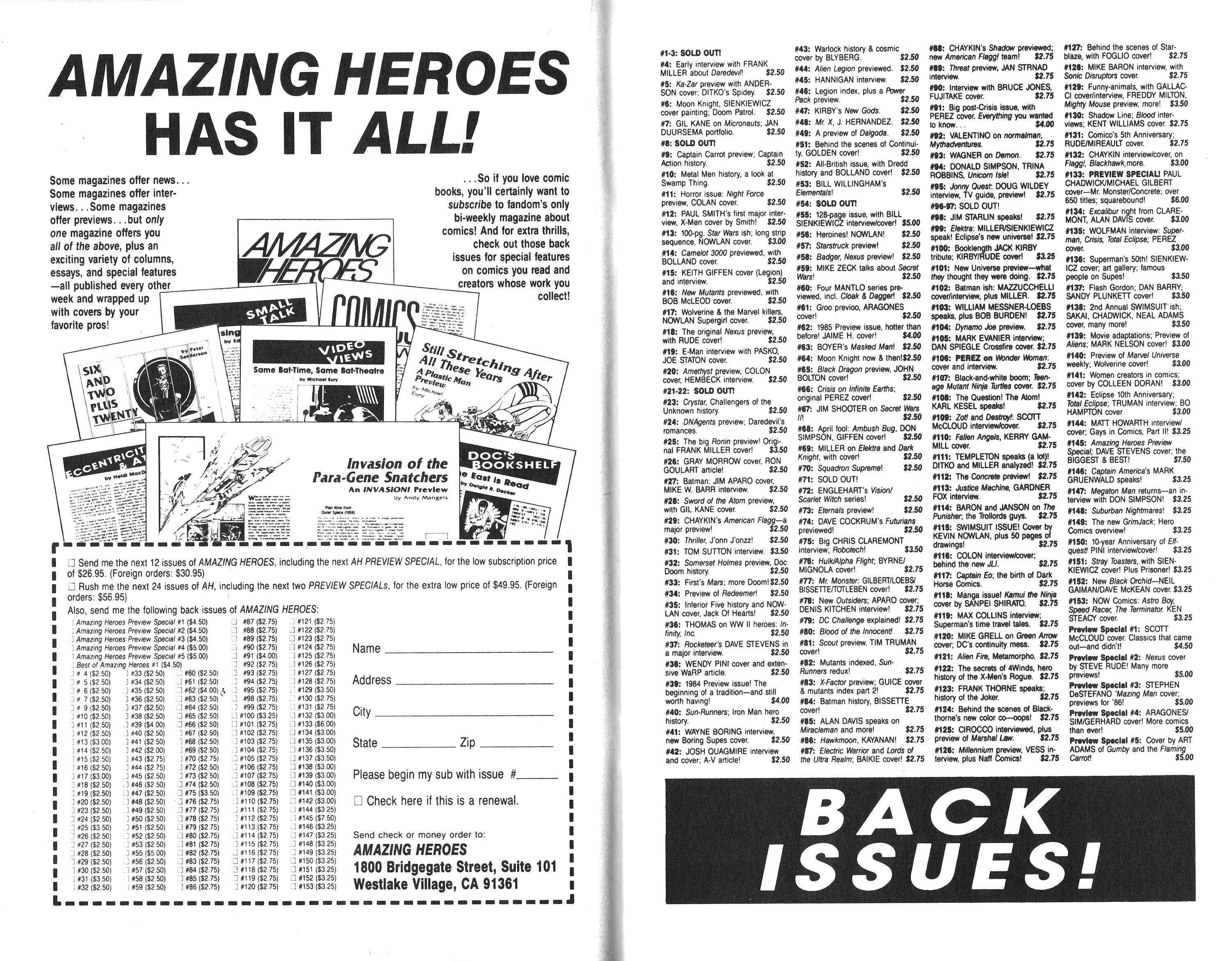 Read online Amazing Heroes comic -  Issue #153 - 11