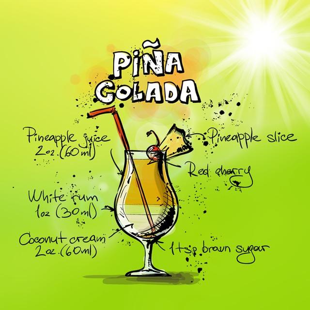 Zeichnung Pina Colada