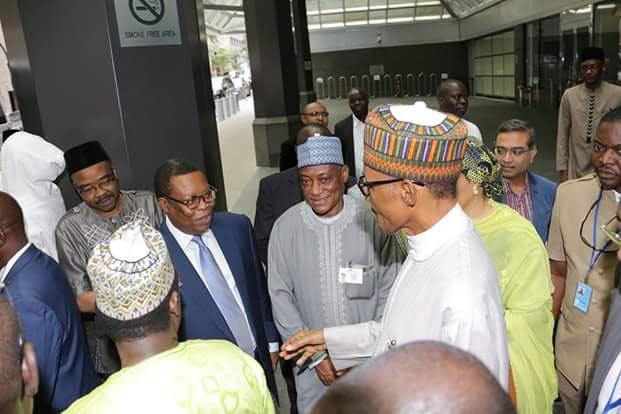 President Buhari departs New York for Abuja