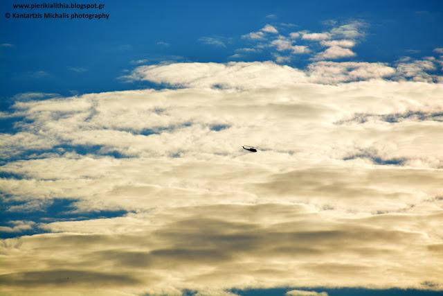 Ελικόπτερα στον ουρανό της Κατερίνης, τώρα. (ΦΩΤΟ)