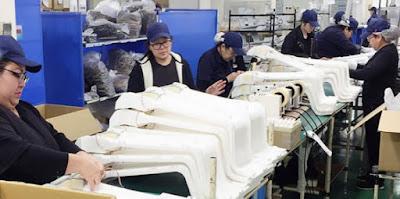 Mulheres brasileiras em uma indústria de Shiga