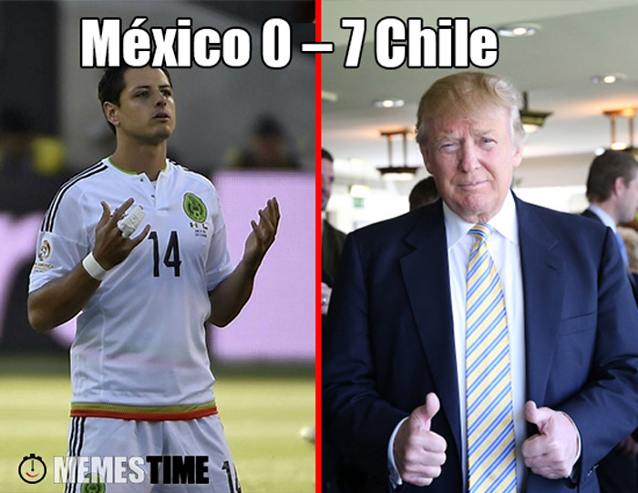 Meme Copa América 2016 & Donald Trump – México 0 – 7 Chile