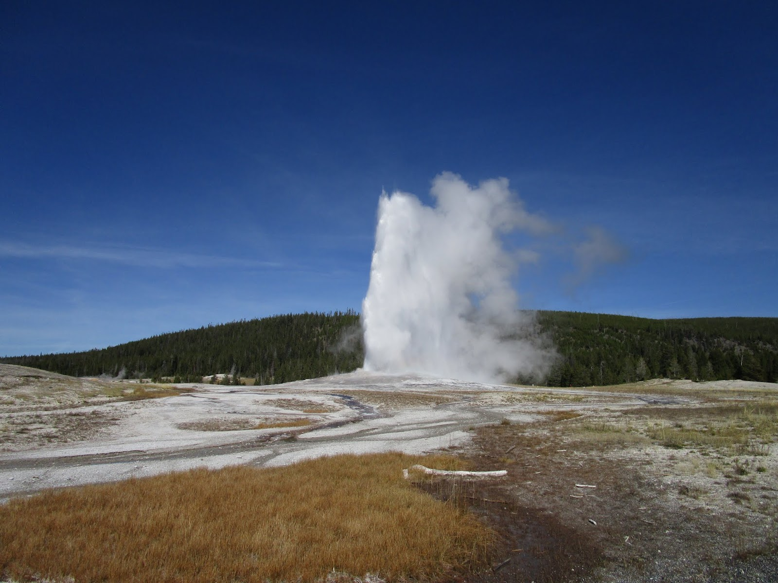 Гейзер Олд Фейтфул, Парк Йеллоустоун (Old Faithful Geyser, Yellowstone)
