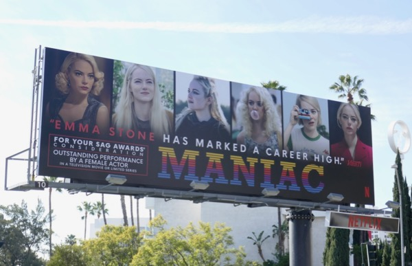 Emma Stone Maniac SAG Award nominee billboard