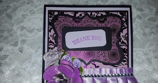 Lavender Thank You Easel Card