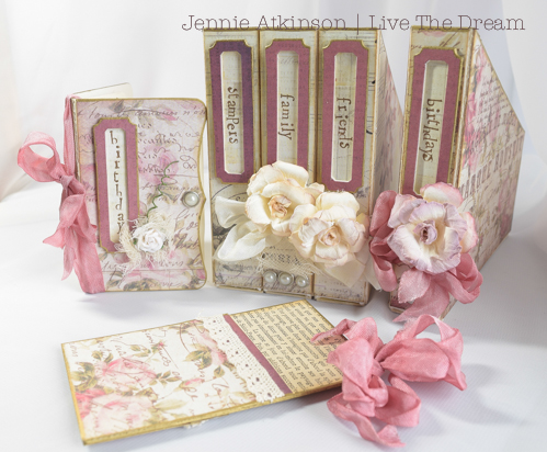 Birthday Cards Live ~ Live the dream birthday card keeper set using eileen