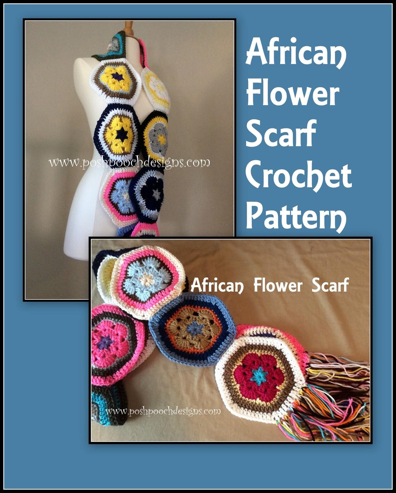 Crochet Flower Shirt Pattern : Posh Pooch Designs Dog Clothes: African Flower Scrap Scarf ...