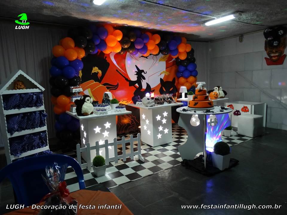 Decoraç u00e3o tema Halloween para festa infantil Festa Infantil Lugh -> Decoração De Festas De Halloween
